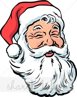Laughing santa. Beard clipart santas