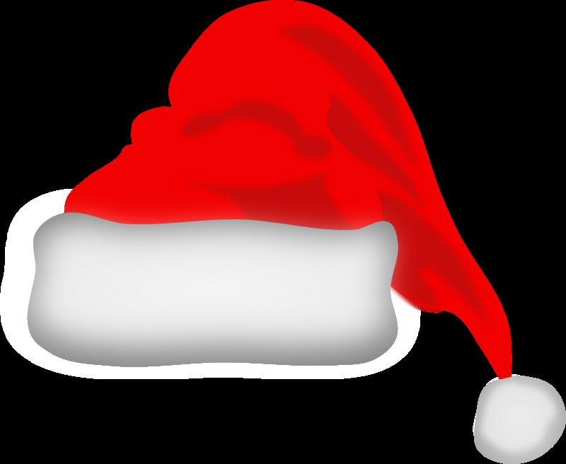Santa no background . Beard clipart santas