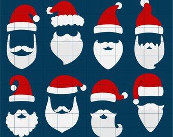 Beard clipart santas. Santa hat clip art