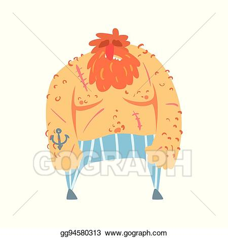 Beard clipart scruffy. Vector stock red pirate