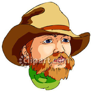 Old cowboy royalty free. Beard clipart scruffy