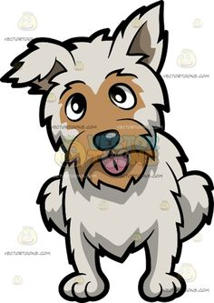 An adorable yorkshire terrier. Beard clipart scruffy