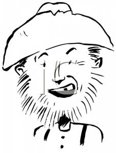 Beard clipart scruffy. A man with and