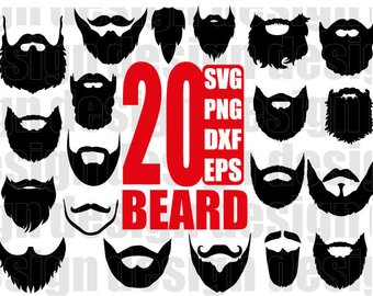 Beard clipart short beard. Beards etsy svg long