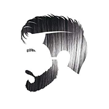 Beard clipart short beard. Amazon com manly guy