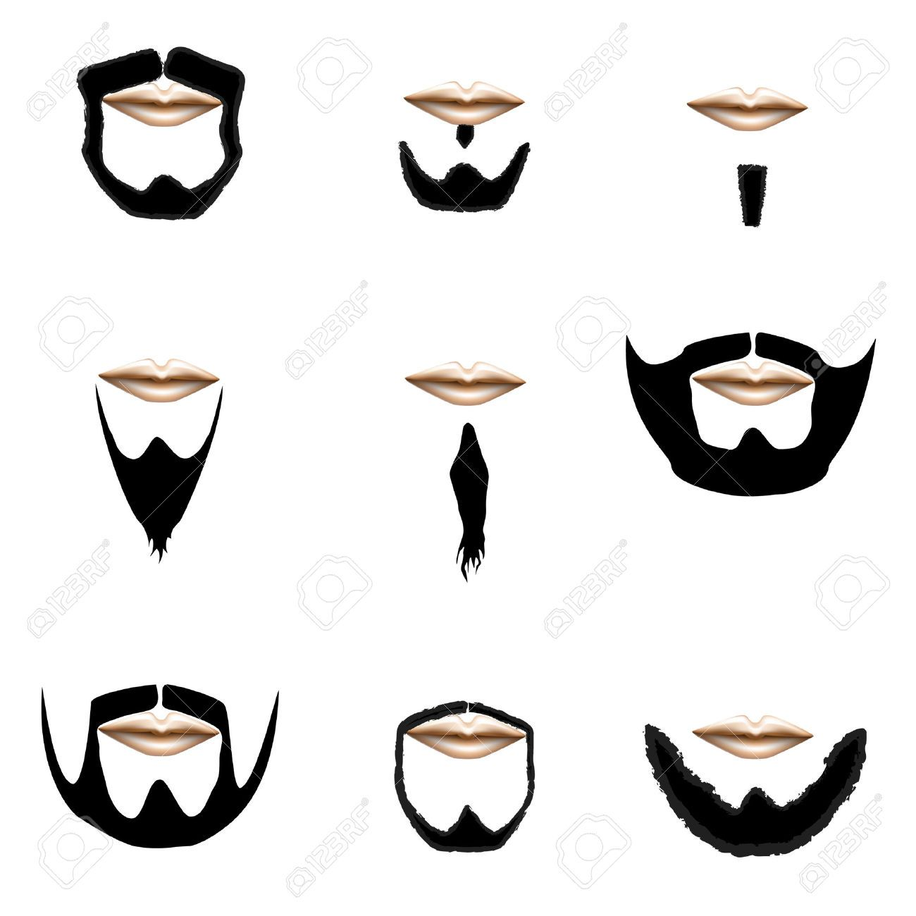 Beard clipart short beard.  and facial hair