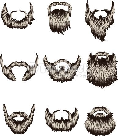 How to draw cartoon. Beard clipart sketch