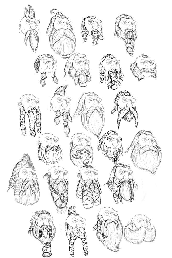 Beard clipart sketch. Fantasy dwarven relief dwarf