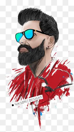 Man png vectors psd. Beard clipart sketch