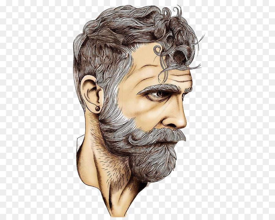 Drawing art white bearded. Beard clipart sketch