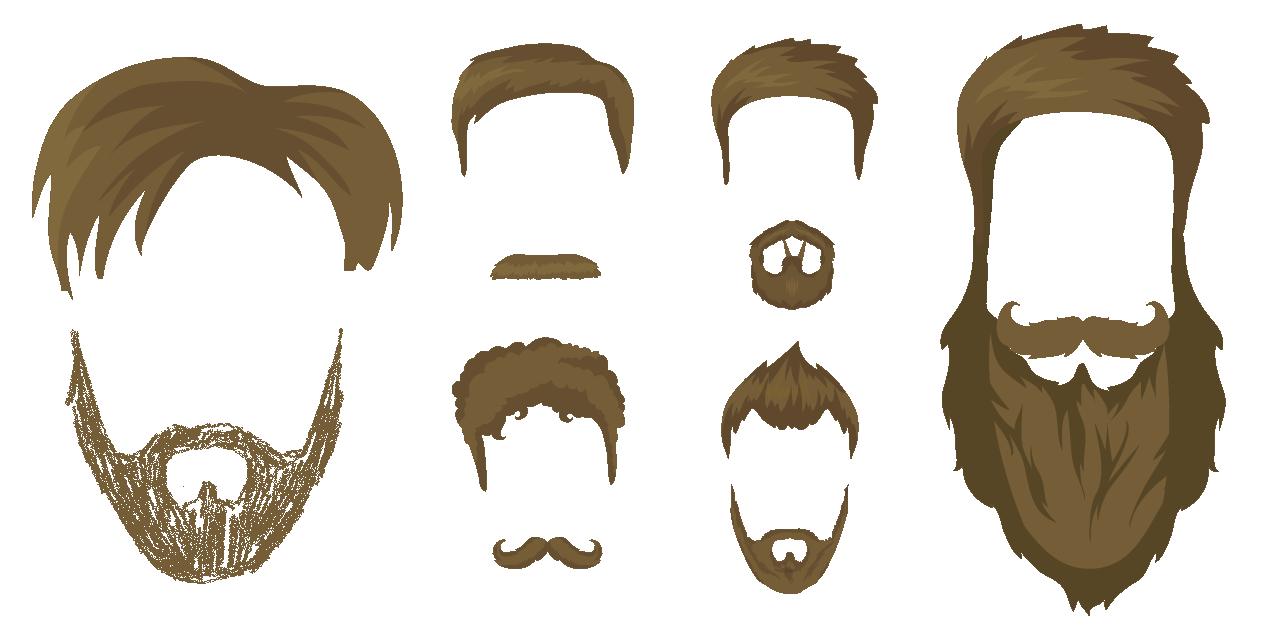 Moustache clipart short beard.  facial hair fads