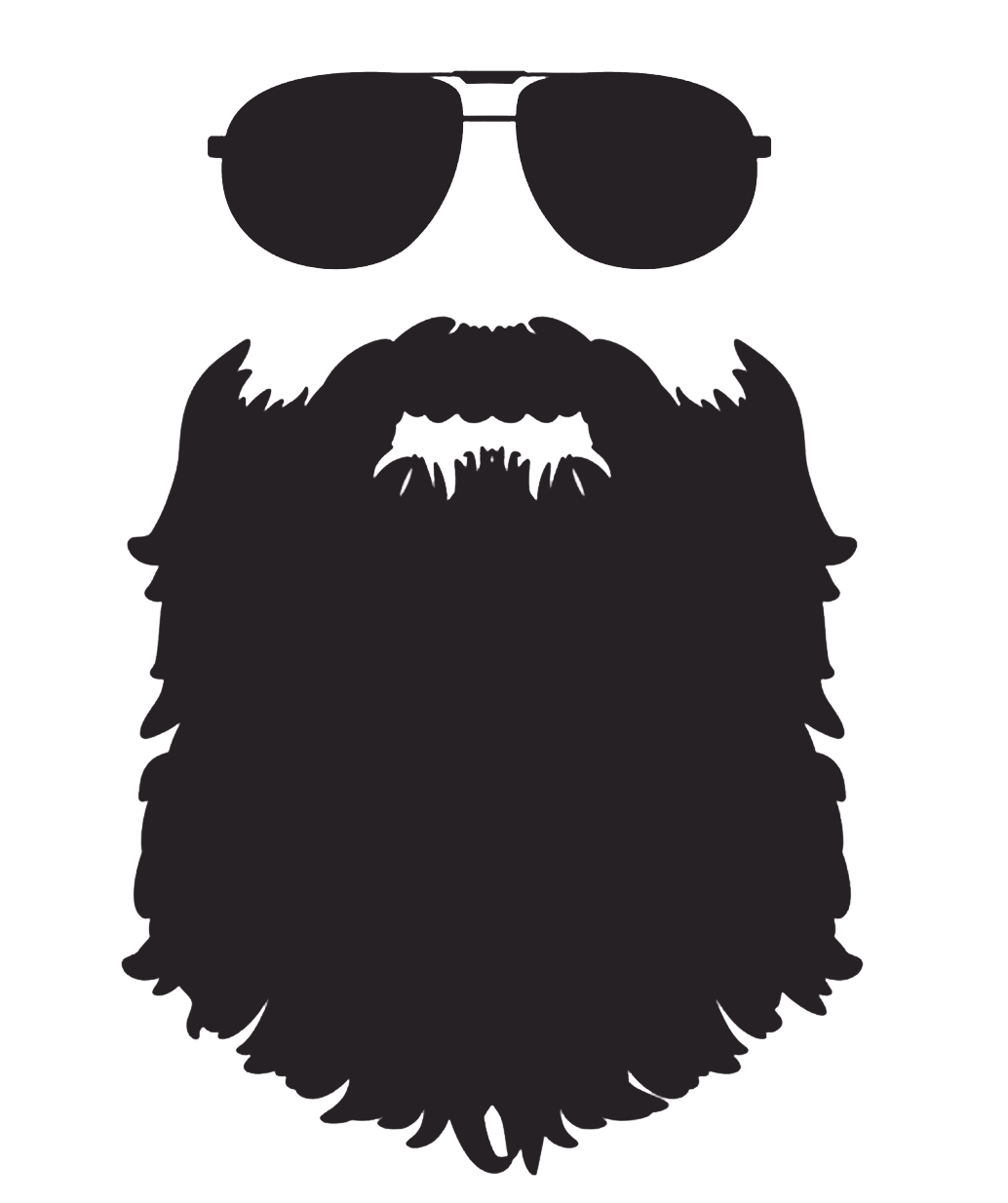 Beard clipart sunglass. Silhouette clip art png