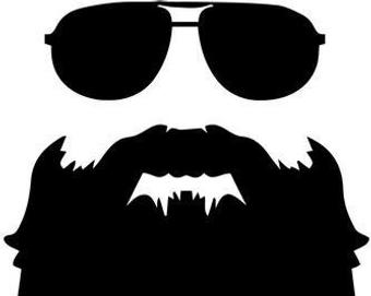 Beard clipart sunglass. Sunglasses etsy