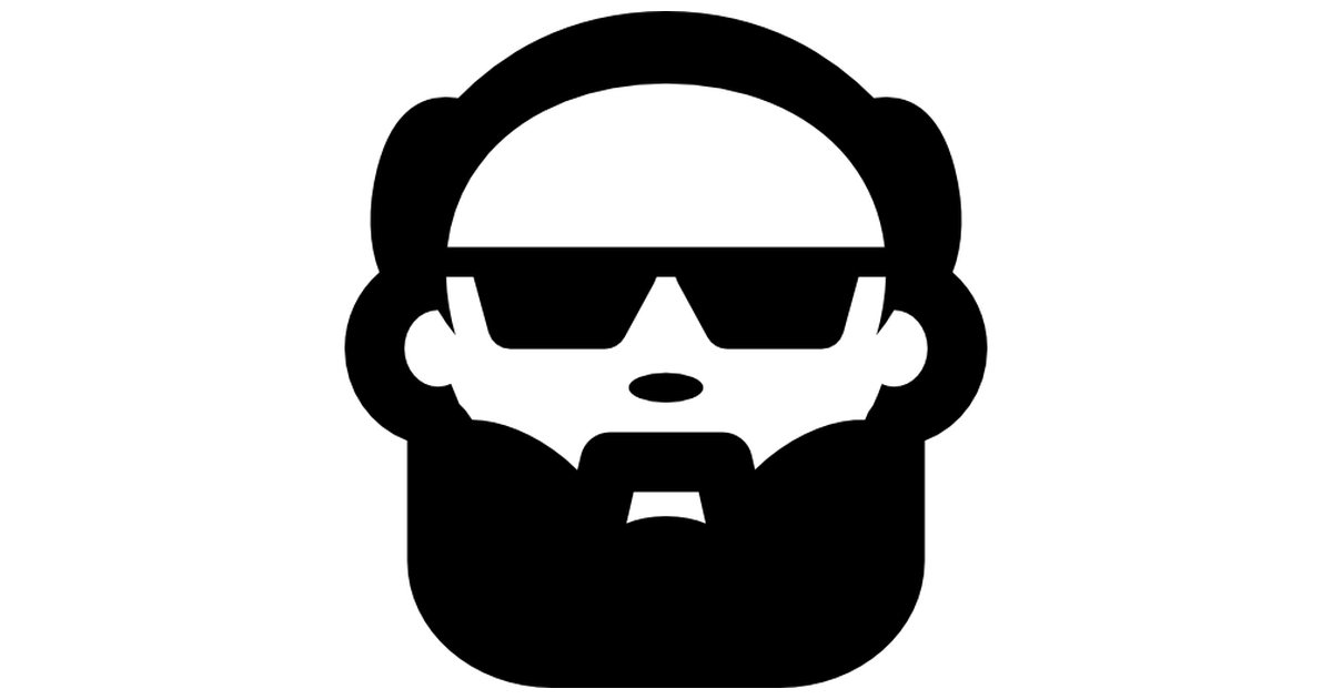 Beard clipart sunglass. Bald man face with