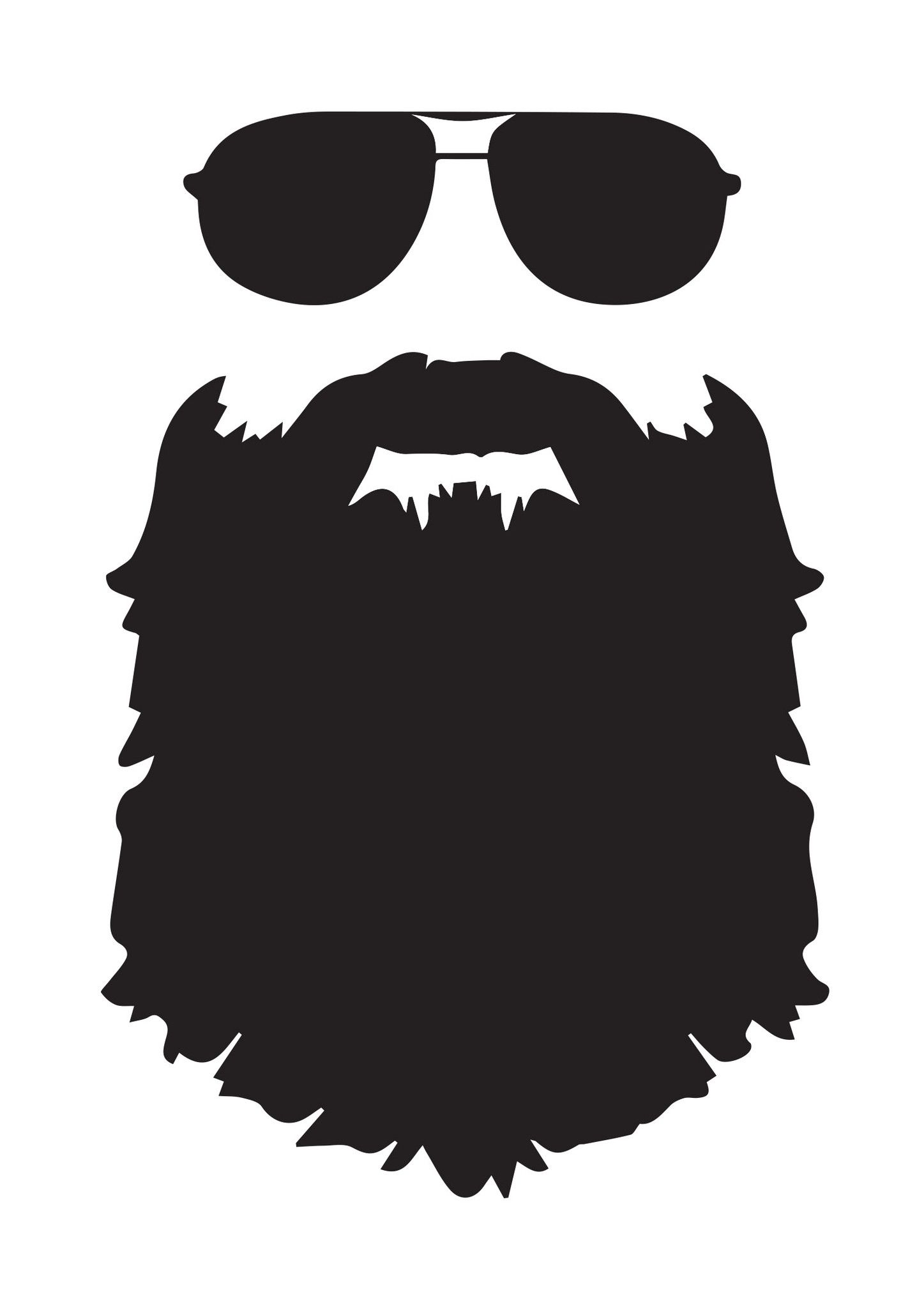 With aviator sunglasses u. Beard clipart sunglass