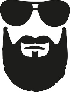 Beard clipart sunglass. Royalty free illustrations glasses