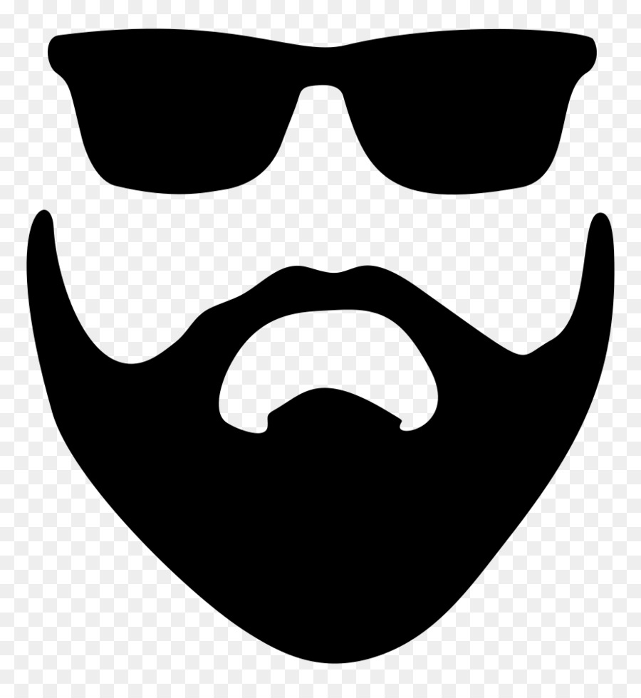 Sunglasses transparent . Beard clipart sunglass
