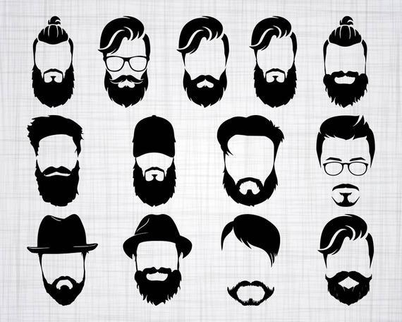 Beard clipart svg. Man bundle face cut