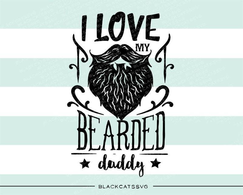 Beard clipart svg. I love my bearded