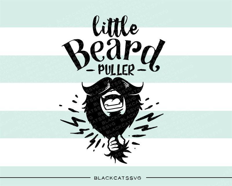 Little puller file cutting. Beard clipart svg