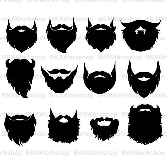 Long digital for design. Beard clipart svg