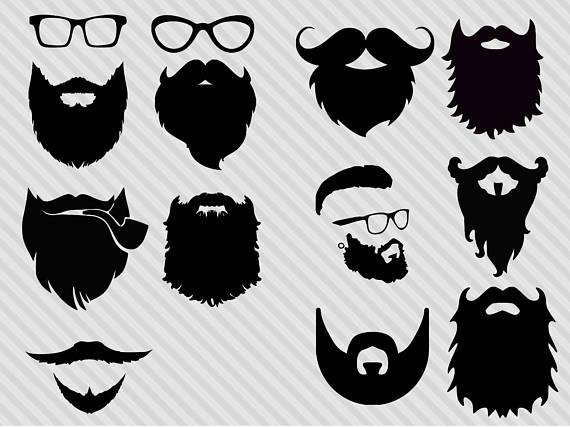 Bundlehipster bundle . Beard clipart svg