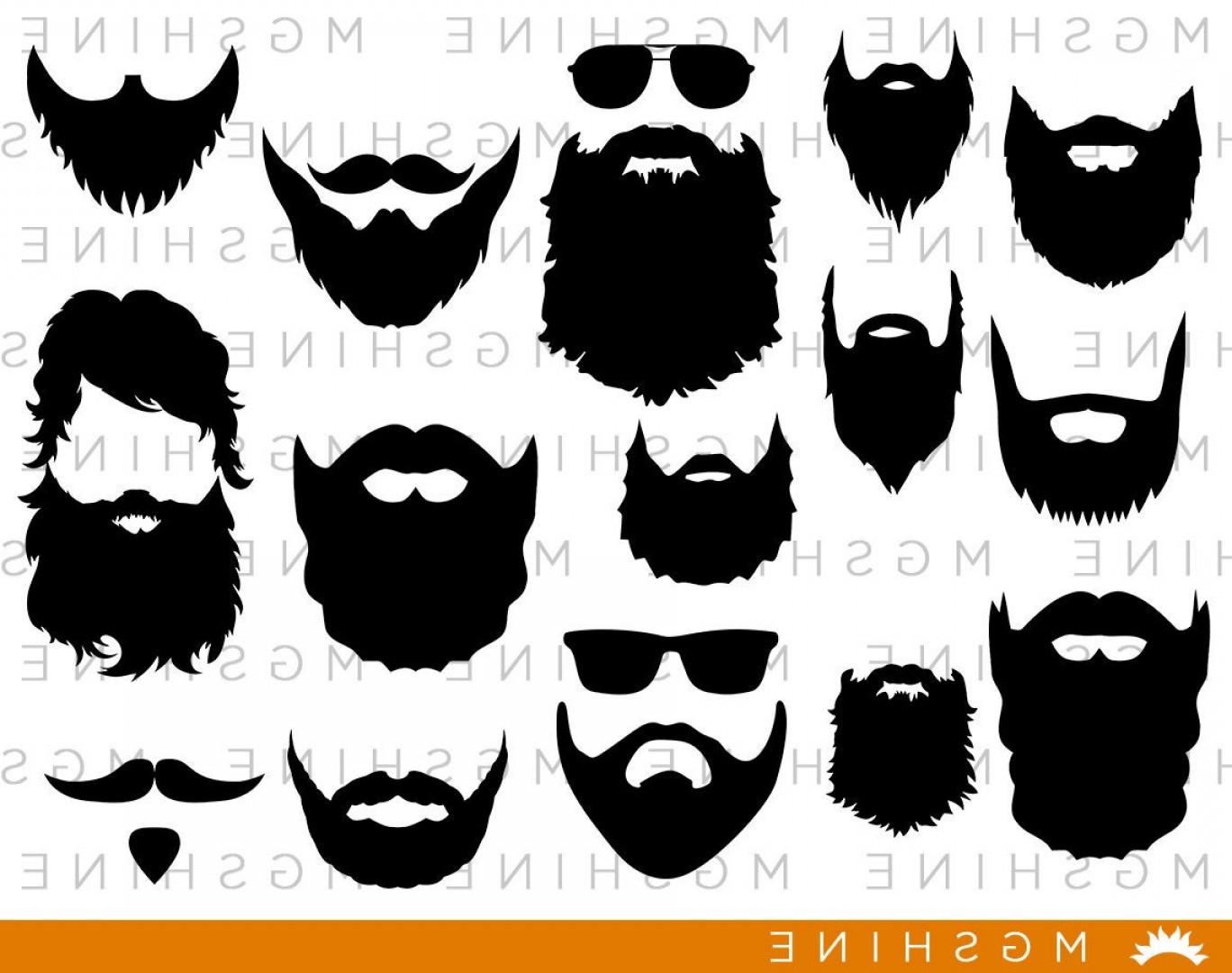 Beard clipart svg. Cutting files for cricut