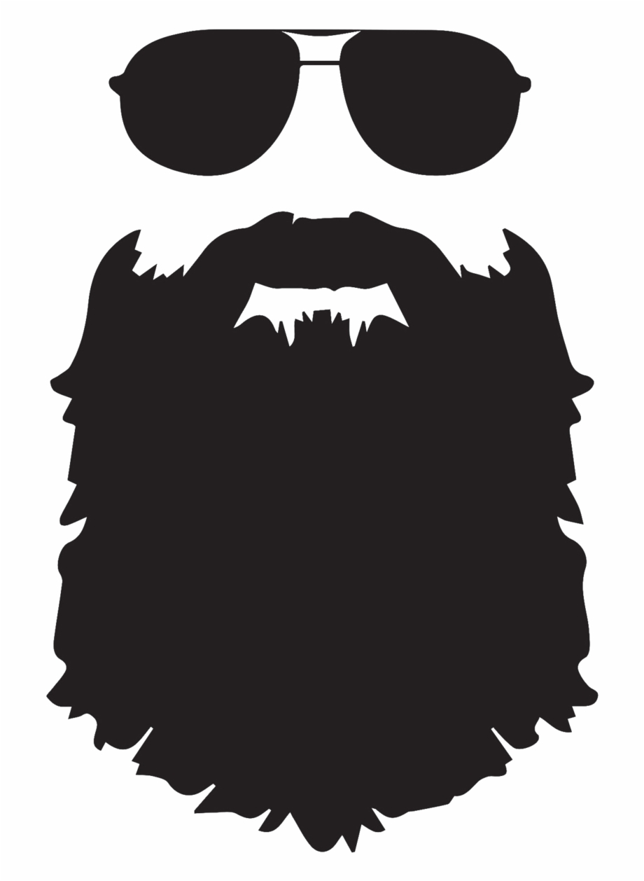 email and glasses. Beard clipart svg