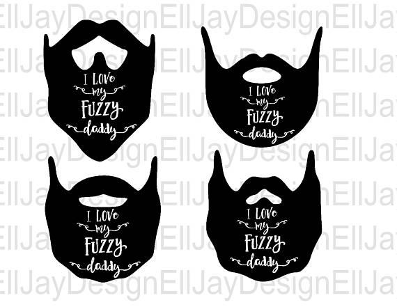 Beard clipart svg. I love my fuzzy