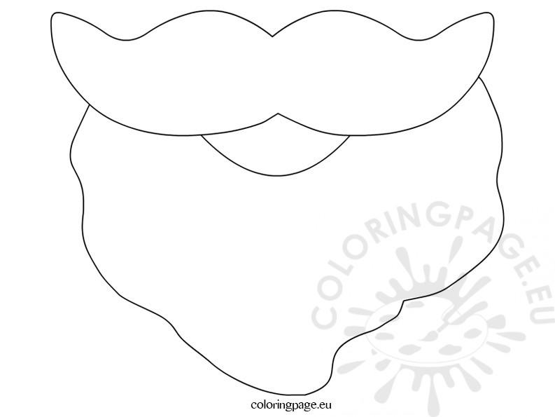 Santa coloring page marshdrivingschool. Beard clipart template