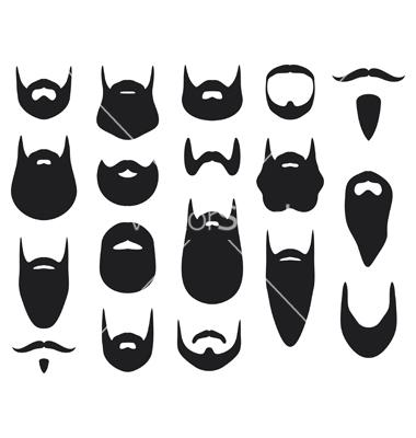 Silhouette clip art at. Beard clipart template