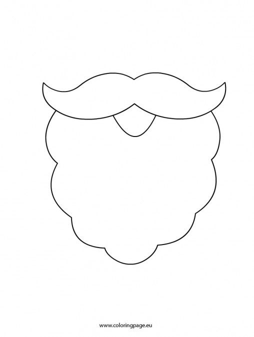 Beard clipart template. Santa valentine s day