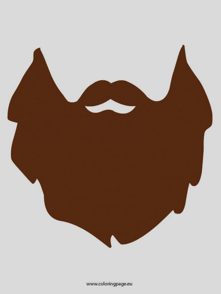beard clipart template
