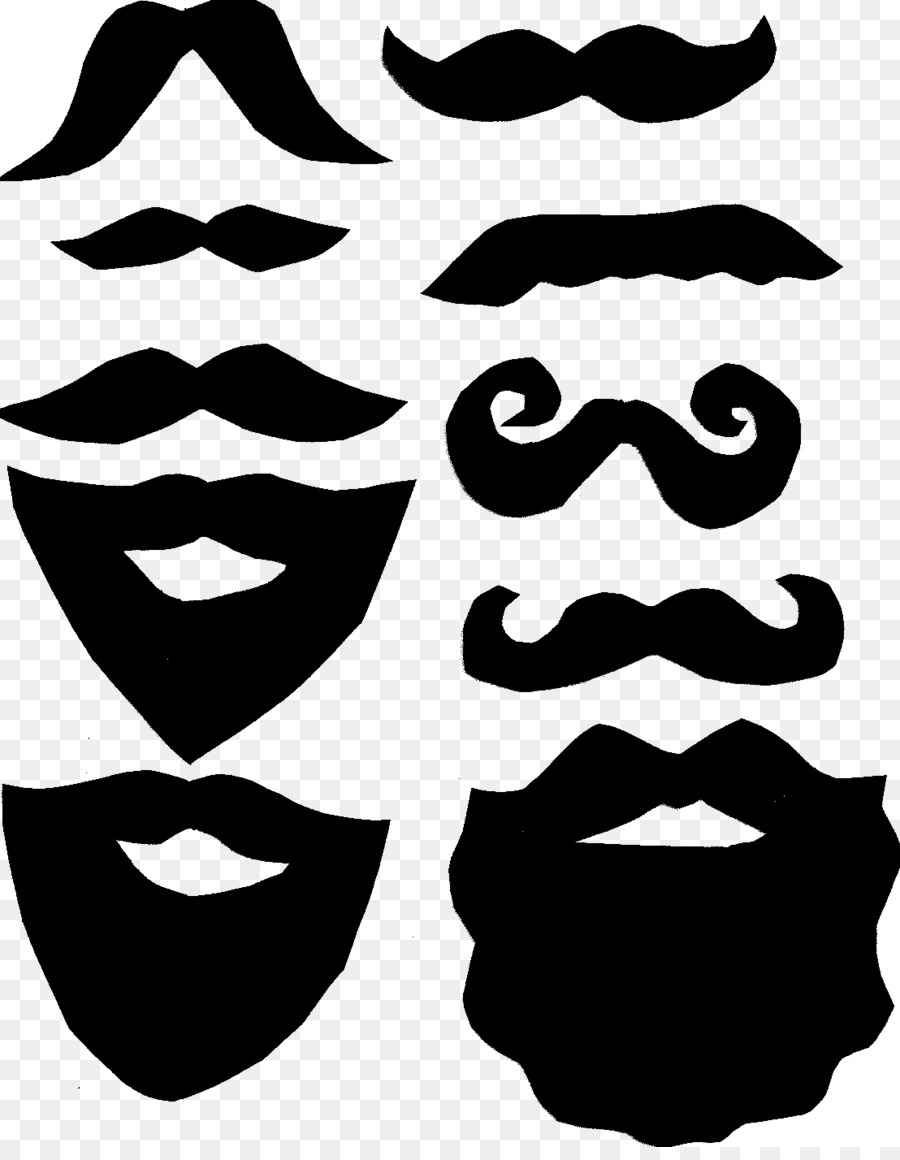 Beard clipart template. Moustache lip clip art