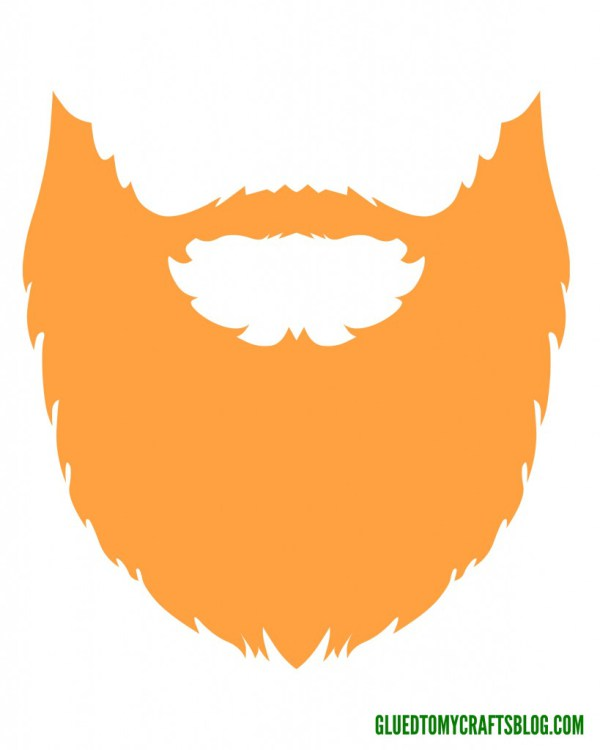 Beard clipart template. Puffy paint leprechaun kid