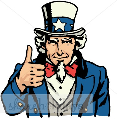 Th of july backgrounds. Beard clipart uncle sam