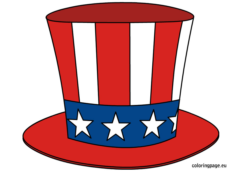 Beard clipart uncle sam. S hat coloring page