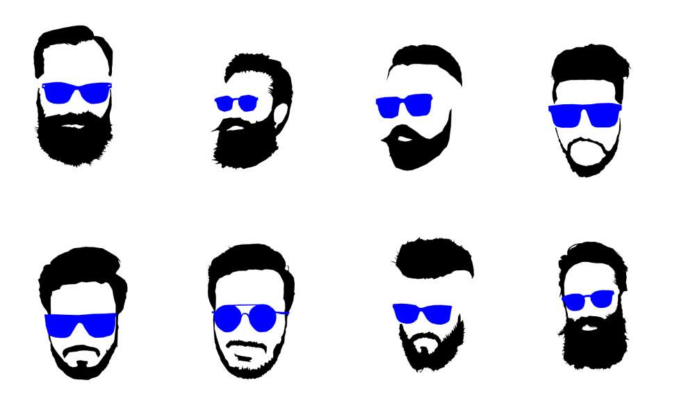 Beard clipart vector. Silhouette free at getdrawings