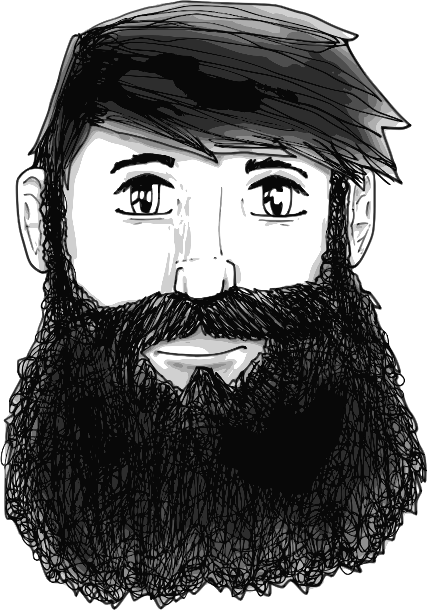 A guy with beard. Sunglasses clipart bearded man