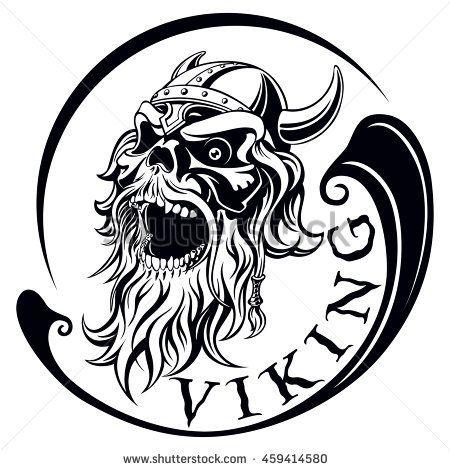 Beard clipart viking beard. Ancient warrior skull with