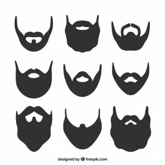 Silhouette set pinterest silhouettes. Beard clipart viking beard