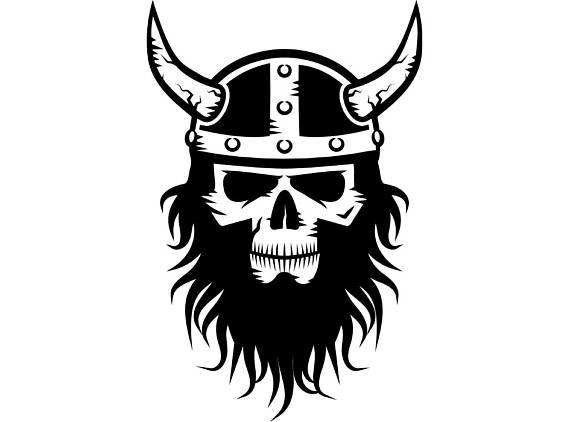 Skull helmet horns norway. Beard clipart viking beard
