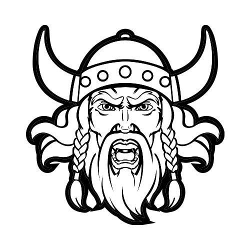 Front bw clip art. Beard clipart viking beard