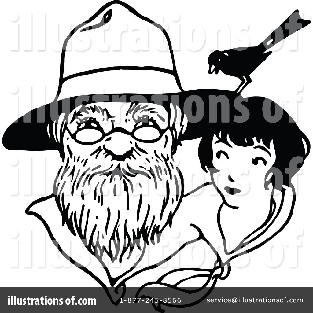 Beard clipart vintage. Grandfather illustration by prawny