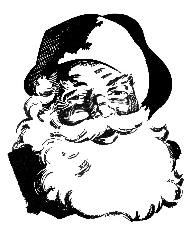 Beard clipart vintage. Retro christmas clip art