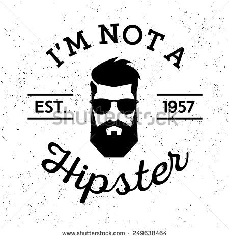 Black and white label. Beard clipart vintage
