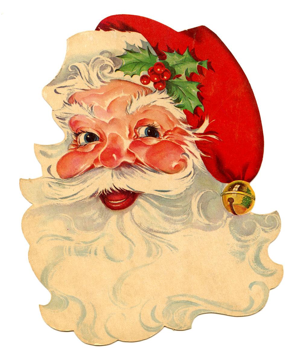 Free clip art santa. Beard clipart vintage
