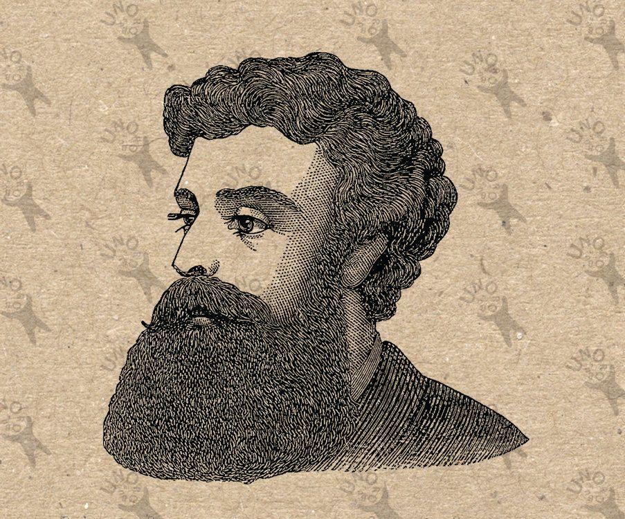 Beard clipart vintage. Bearded man image mustache