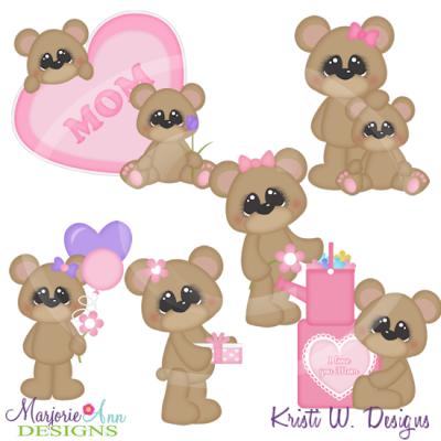 Bears clipart adorable. I love you mom