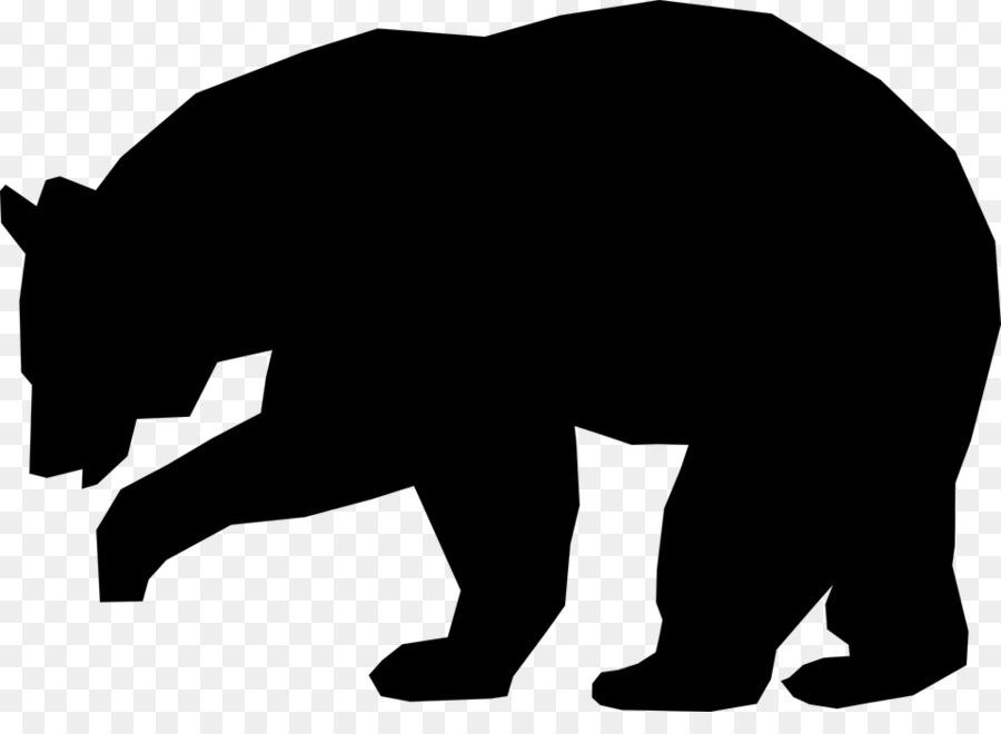 Bears clipart american black bear. Brown silhouette clip art